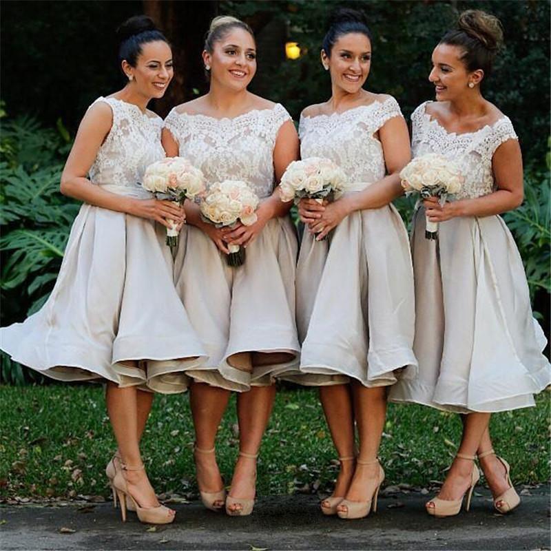 Midi Length Bridesmaid Dress